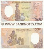 Central African Republic 500 Francs 1.1.1987 (R.02/04111093x) UNC