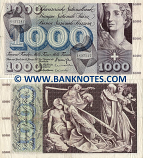 Switzerland 1000 Francs 24.1.1972 (6K 37247) (circulated) (ph) VF