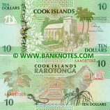 Cook Islands 10 Dollars (1992) (AAA 097065) UNC