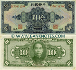 China 10 Dollars 1928 (SX006872MW) AU-UNC