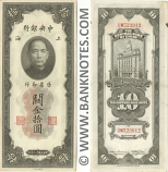 China 10 C.G.U. 1930 (DL480634) (mnr st) AU
