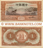China 1 Yuan March 1935 (Low # Q000412) (cnr cnk) (used) Fine