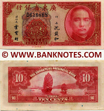 China 10 Cents 1935 (minor stains on edge) (D6168xx) UNC