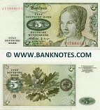 Germany 5 Mark 2.1.1960 A series (A1786415L) UNC-