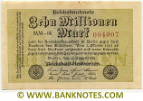 Germany 10 Million Mark 22.8.1923 (KH-12/196108) (circulated) VF+