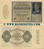 Germany 10000 Mark 19.1.1922 (19P.398721) (circulated) VF-XF