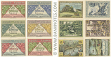 Germany: Rehmen: Set of 6: 2x25Pf.+4x50Pf. 1921 (L1078) (A-14931, B-02932, C-02552, D-05077, E-04079, F-06902) UNC