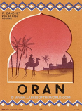 "Algerian wine label ""ORAN"" UNC"
