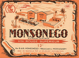 "Algerian wine label ""MONSONEGO"" UNC"