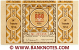 Algeria Lottery ticket 860 Francs 1956. Serial # 297333 XF