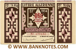 Algeria Lottery ticket 860 Francs 1954. Serial # 179152 (nice) XF