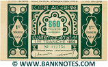Algeria Lottery ticket 860 Francs 1956. Serial # 012731 (nice) XF