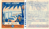 Algeria Lottery half-ticket 50 Francs 1938. Ser # 127421 (new) AU
