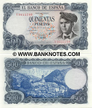 Spain 500 Pesetas 23.7.1971 (G1423009) (circulated) Fine