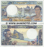 French Pacific Territories 500 Francs 2002 (1990-2012) (F.009/20525241) UNC