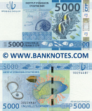 French Pacific Territories 5000 Francs (2014) (302345B1) UNC