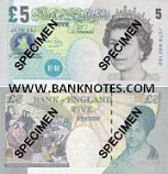 Great Britain 5 Pounds 2002 (2004-11) (KJ53/0487xx) UNC
