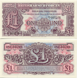 Great Britain 1 Pound (1948) Special voucher of the British Armed Forces (AA/8 8850xx) UNC