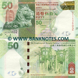 Hong Kong 50 Dollars 1.1.2010 (BE343602) UNC