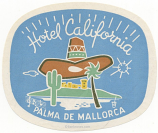 Spain: Palma de Mallorca: Hotel California (never hinged, glueless)