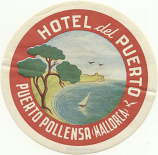 Spain: Puerto Pollensa, Mallorca: Hotel del Puerto (unhinged, with glue)