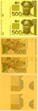 Croatia 500 Kuna ND print trial 2 notes (50% of the depicted) UNC