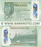 Northern Ireland 20 Pounds 2.10.2017 Bank of Ireland (polymer) (AN281064) UNC