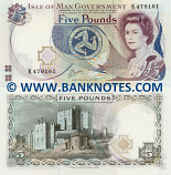 Isle of Man 5 Pounds (1991) (K4781xx) UNC