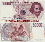 Italy 50000 Lire 6.2.1984 (EB 253122 R) (v.lt. circulated) XF-AU