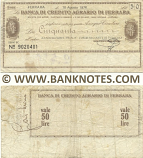 Italy Mini-Cheque 50 Lire 27.9.1976 (Banca di Credito Agr. di Ferrara) (Nº 9161410) (circulated) VG