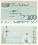 Italy Mini-Cheque 100 Lire 25.2.1977 (Istituto Centrale di Banche e Banchieri) (103220102) (lt. circulated) XF