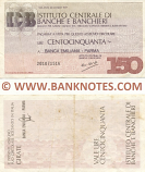 Italy Mini-Cheque 150 Lire 20.7.1977 (Istituto Centrale di Banche e Banchieri) (201071516) (circulated) VF