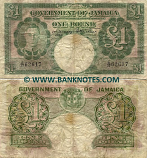 Jamaica 1 Pound 2.1.1948 (A/37 62617) (well circulated) VG-F