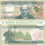 Lappland 100 Kroner 2017 (MG 000xxx) Private release UNC
