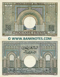 Morocco 50 Francs 28.10.1947 (W.2843/71074867) (circulated) XF