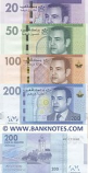 Morocco Set of 20, 50, 100 and 200 Dirhams 2012 (P-74-77) UNC