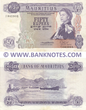 Mauritius 50 Rupees (1967) (A/1 065901) (lt. circulated) XF