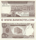 Mauritius 5 Rupees (1985) (A/7 35312x) UNC