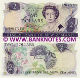 New Zealand 2 Dollars (1981-92) (EPN 972072) UNC