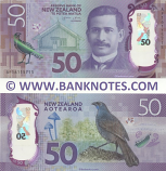 New Zealand 50 Dollars 2016 (AF16115714) Polymer UNC