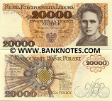 Poland 20000 Zlotych 1989 (AN 3879642) UNC