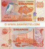 Singapore 10 Dollars (1980) (B/49 322249) (circulated) VF