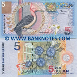 Suriname 5 Gulden 2000 (Replacement # ZZ0120xx) UNC