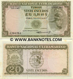 Timor 20 Escudos 1967 (12169xx) (light stains) UNC