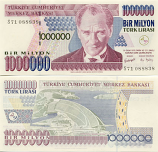 Turkey 1 Million Lira (2002) (S71/088806) UNC