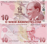 Turkey 10 Lira 2009 (A053/906788) UNC