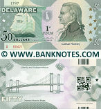 United States of America Delaware 50 State Dollars (2014) (Commemorative) (A004xx) UNC