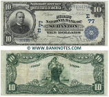 United States 10 Dollars 1902 (20735/T109175A) (circulated) VF