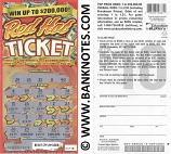 "USA: South Carolina 10 Dollars 2013 Education Lottery Ticket ""Red Hot Ticket"" (Used)"