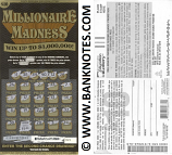 "USA: South Carolina 10 Dollars 2013 Education Lottery Ticket ""Millionaire Madness"" (Used)"